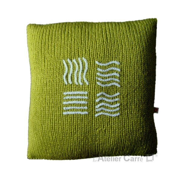 coussin-personnalise-symbole-film-tricot-vert1