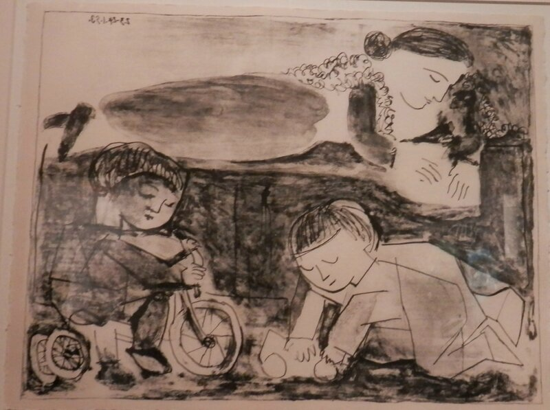 Picasso Les jeux et le lecture 1953