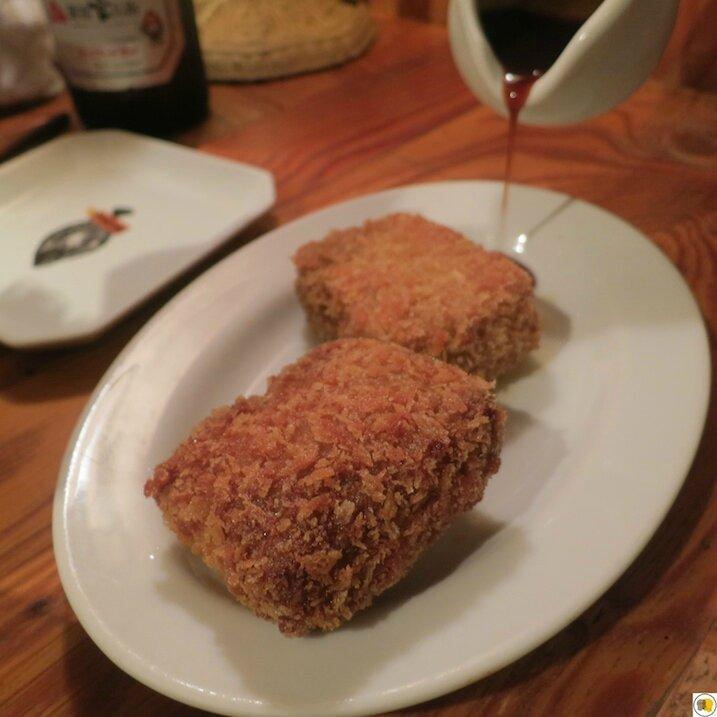 Croquette à la crème crabe et miso