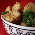 ...bouchées de tofu au sésame...