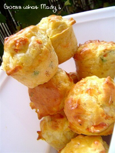 Muffins tomate séchée, basilic