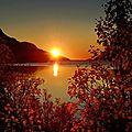 paysage coucher soleiln