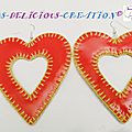 earrings red inner heart b