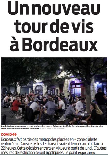 2020 09 24 SO Un nouveau tour de vis à Bordeaux