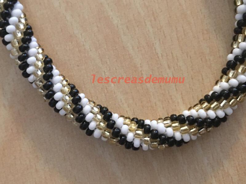 Bracelet spirale au crochet