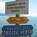 Bourg-en-Lavaux, panneaux (Suisse)