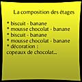 Entremet banane chocolat