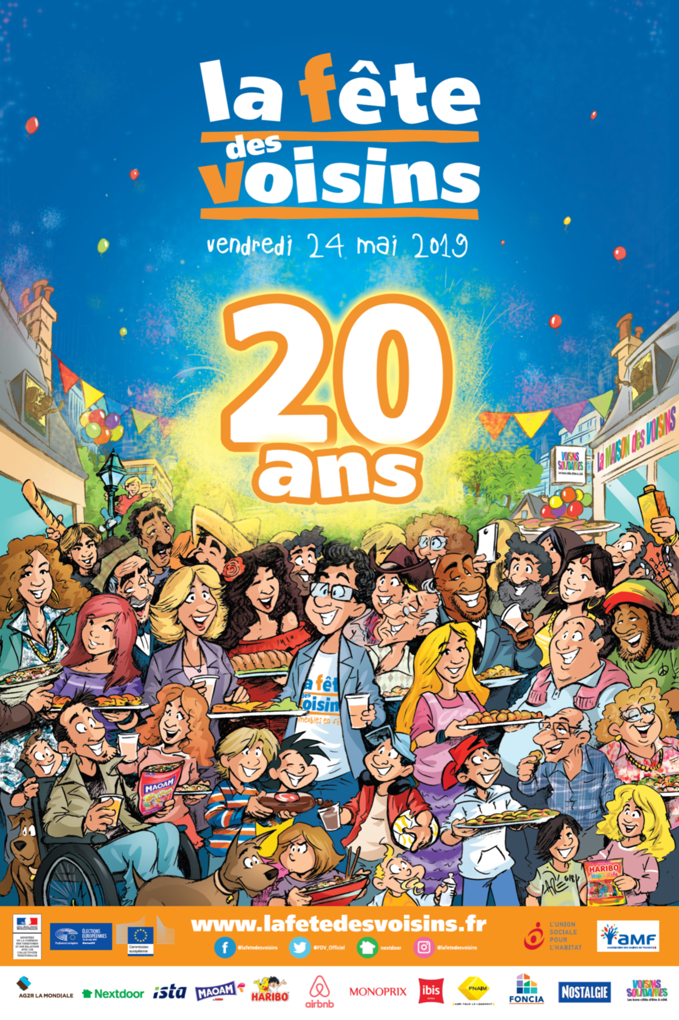 La fête des voisins, c'est demain ! The European neighbours'day, it's tomorrow !