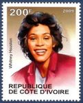 stamp_2009_cote_ivoire_Whitney_Houston