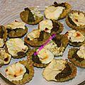 Tartelettes carre frais et pesto