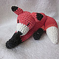 Test crochet - rusty the fox...