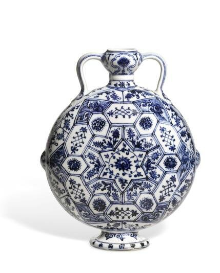 Blue and White Moonflask, Yongle period