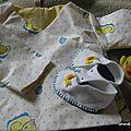 Un petit trousseau canard, tissu issu d'un don, canard de bain collection personnelle très commun!