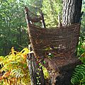 chaise de corde sur souche yurtao