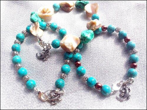 Bracelets en pierre howlite