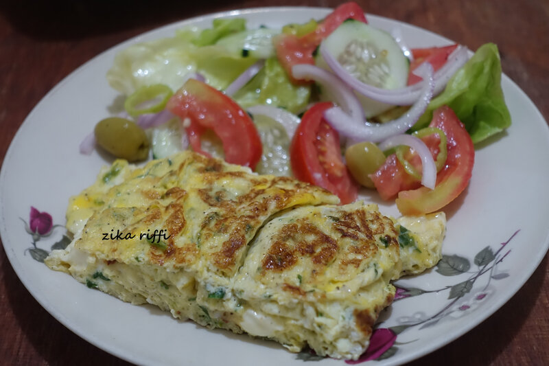 omelette fines herbes et fromage 5