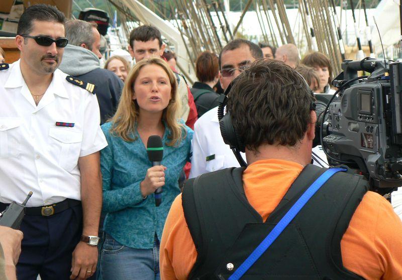chaque jour, le JT est présenté à bord des bateaux de l'Armada