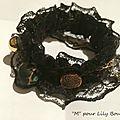 DIY bracelet dentelle breloques lilybouticlou
