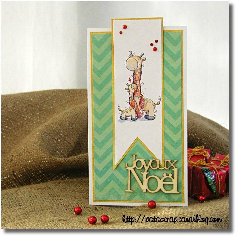 carte Noël girafes