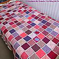 Pink square blanket #22