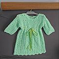 La robe en crochet (9 mois)