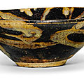 A 'Jizhou' splashed dish, Song dynasty (960-1279)
