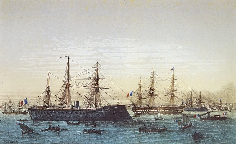 Magenta_and_Napoléon_III_in_Brest