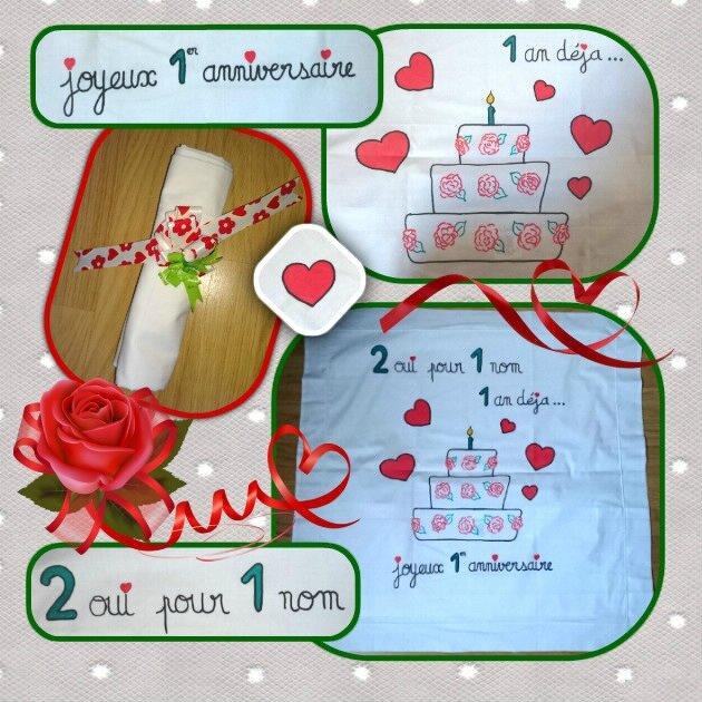 16-04-18 dessin sur tissu - cadeau de Stéphane pour nos 1 an de mariage