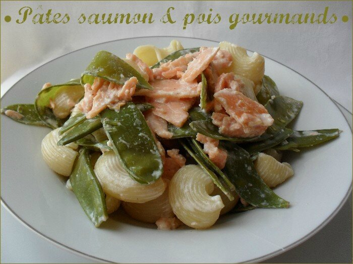 pâtes saumon - pois gourmands 1