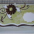 Mariage vert anis et chocolat faire-parts 1