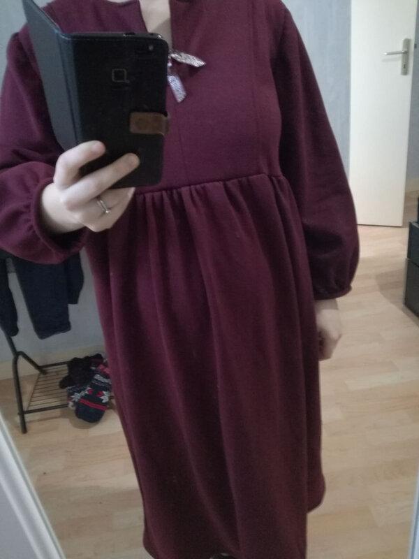 robe grossesse rouge