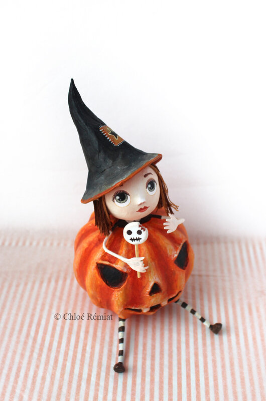 Pumpkin Witch 14 octobre 2020 13x10x7,5cm etsy 8