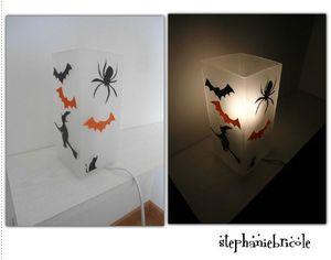 lampe customisée halloween diy tuto déco