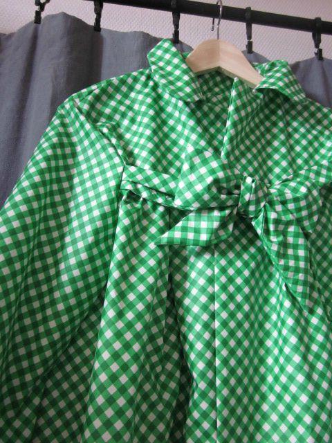 Ciré vichy vert et blanc (4)