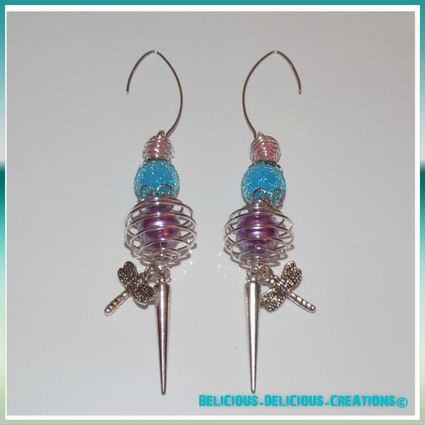 Original Boucles d'oreilles !! CAGED !! en metal argente T: 7.5cm BELICIOUS-DELICIOUS-CREATION