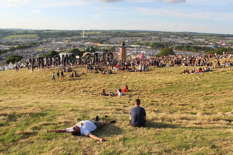 Glastonbury festival 2014 site view vue