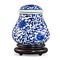 A blue and white jar and cover, qing dynasty, 18th century
