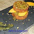 Sablés de mangue et de rhubarbe,gingembre et girofle