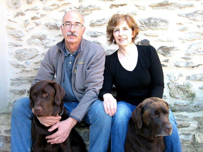 Vos hôtes Christiane et André et les labradors
