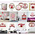 Stickers : thème manège à bonbons