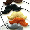 felt moustaches by lupin handmade