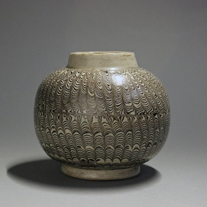 A Chinese Marbled Globular Jar, Northern Song Dynasty, 11th century