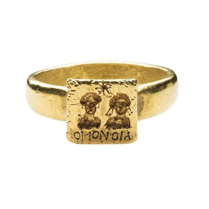 Gold Marriage Ring, Byzantine, 6th-7th century