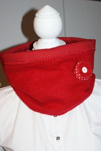 Oh Babelou snood rouge 003