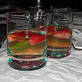 Apéritif : cocktail prosecco, fraises et basilic