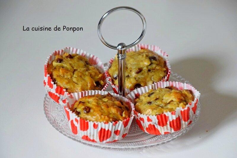 muffin flocon d'avoine banane pomme pépites (2)
