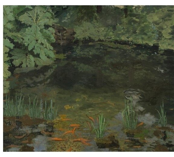 The Goldfish Pool at Chartwell - Winston Churchill (collection privée - 1932)