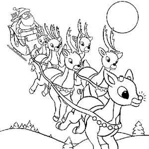 Rennes Du Pere Noel Photo De Dessins A Colorier Coloring Pages