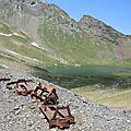 Gourette, Q, Les trois Lacs, lac d'Anglas, ruines mine
