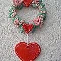 Déco fleurs/coeur à suspendre
